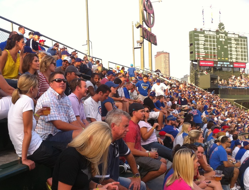 YPN REALTORS(R) easily covered one-third of section 302 at Wrigley Field Aug. 3.