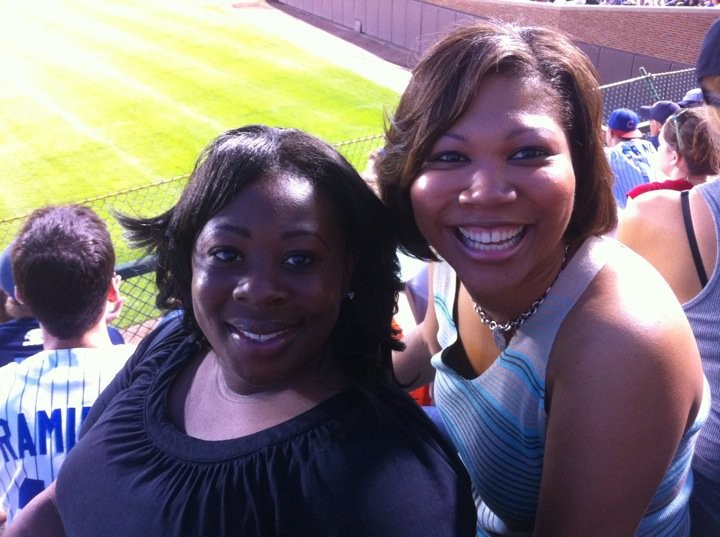 Tiffany Curry and Courtney Johnson Rose at YPN Night out at Wrigley Field.