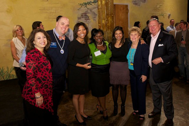 From left: NRG staff liaison Roz Crew, 2011 YPN Advisory Subcommittee Chair Brian Copeland, YPN Advisory Subcommittee & NRG member Courtney Johnson-Rose, NRG Vice Chair Tiffany Curry, NRG Chair Karishma Asrani, HAR Chair Margie Dorrance, and HAR AE Bob Hale.
