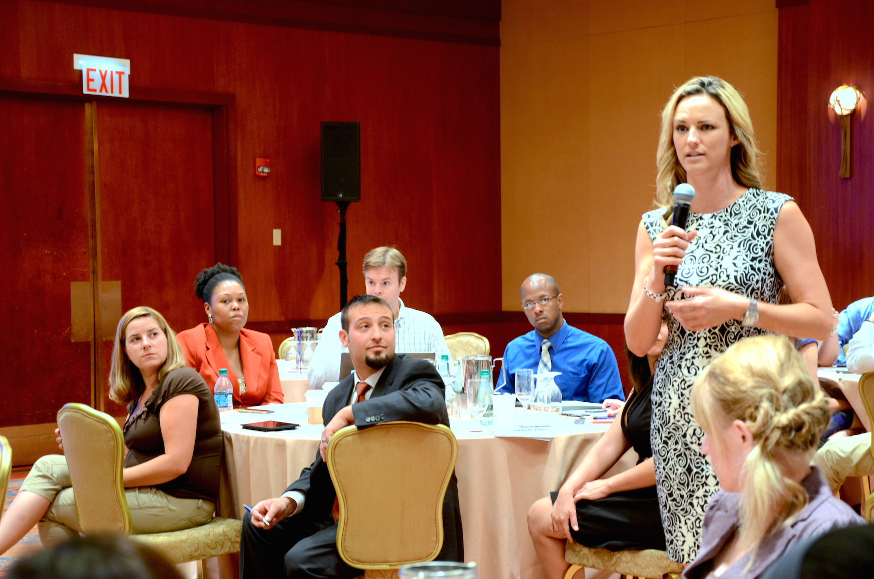 Erin Steele, 2014 Bay East YPN Vice Chair, explains her perspective as an affiliate member of YPN. (Photo by Meg White)