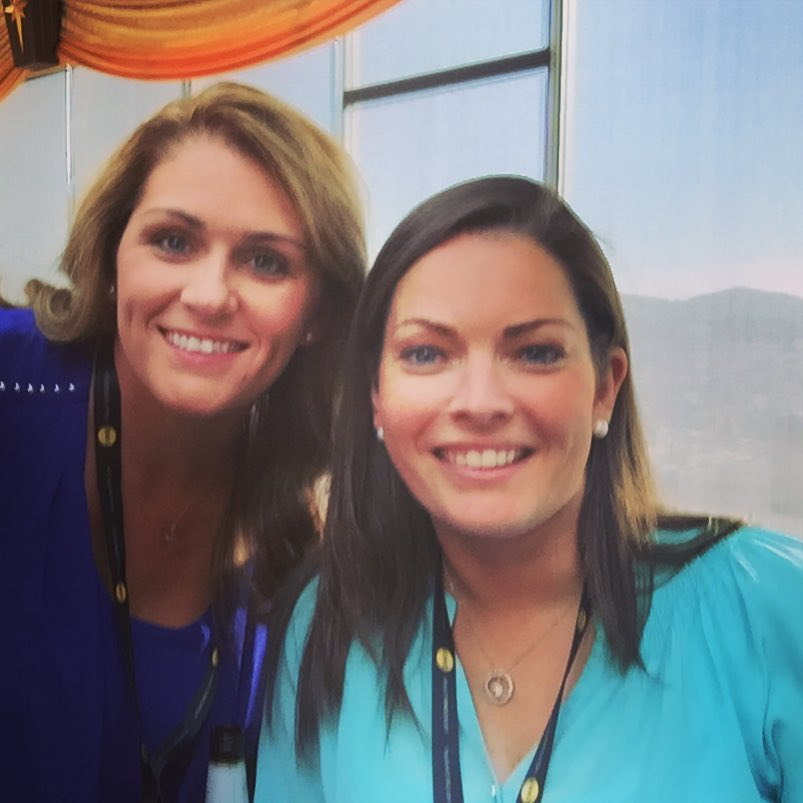 Alyssa Hellman (right) with Lynn Johnson of Keller Williams Realty Cary at the 2015 Inman Connect in San Francisco.
