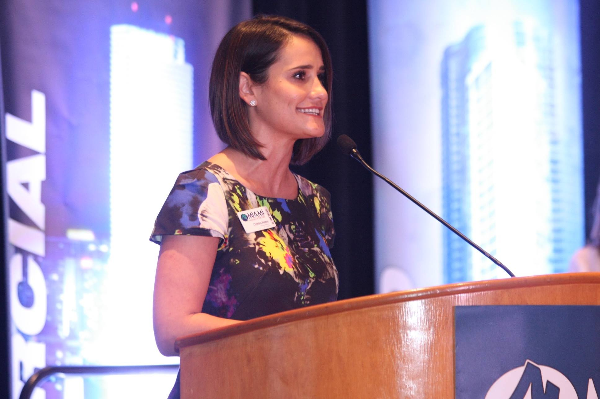 Christina Pappas at her 2017 inaugural as president of the MIAMI Association of REALTORS®