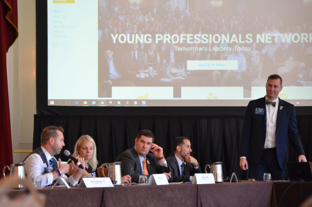 Members of the 2018 YPN Advisory Board discuss the ypn.realtor website.